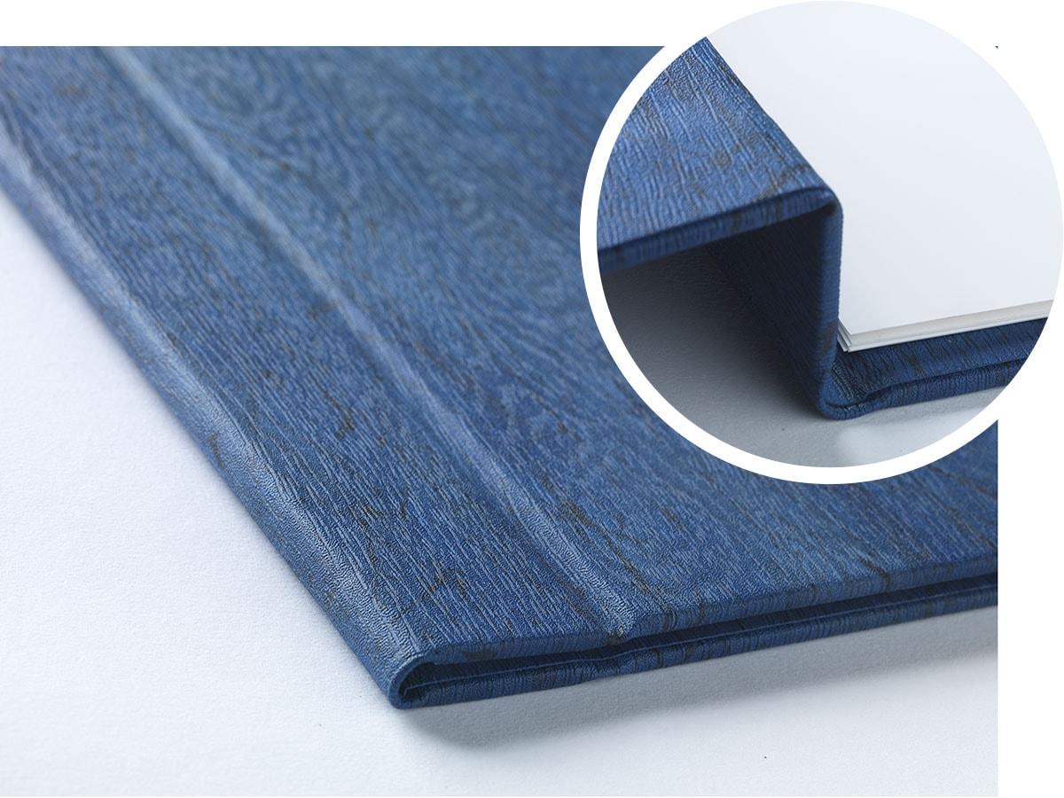 Menukaart Blauw Magneetsluiting