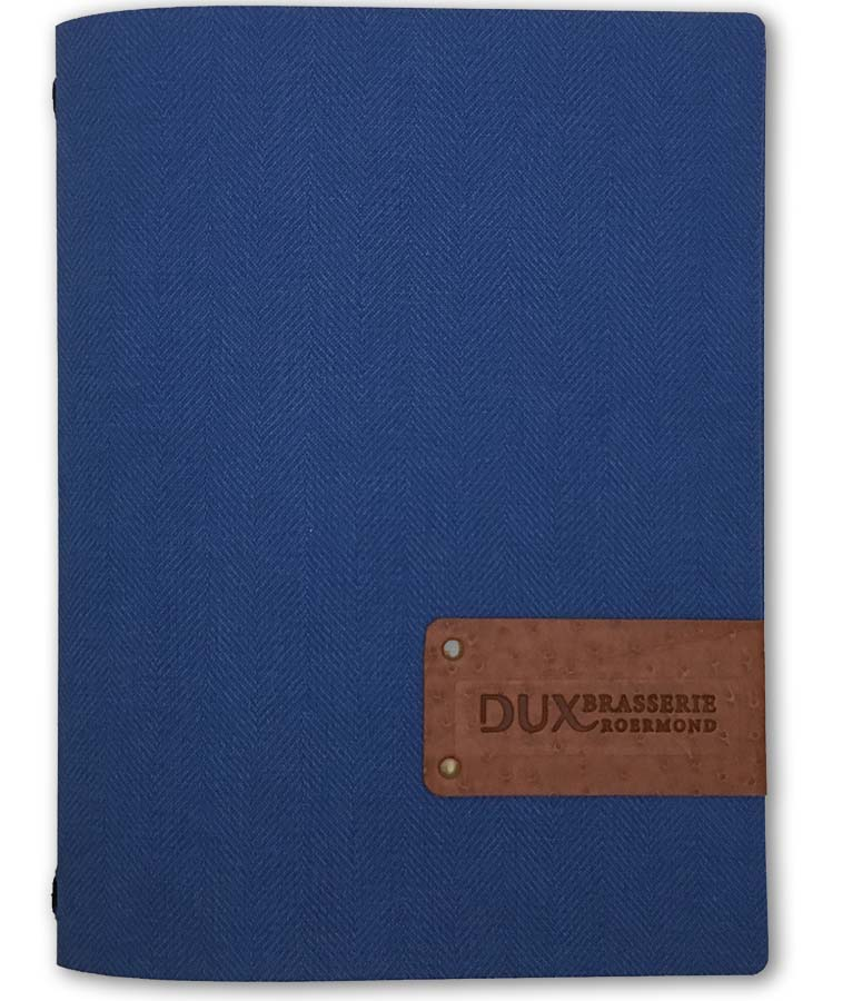 Menukaarten Blauw Flexible Kaft